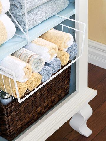 洗面タオルの収納