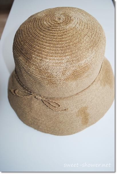 麦わら帽子乾かす
