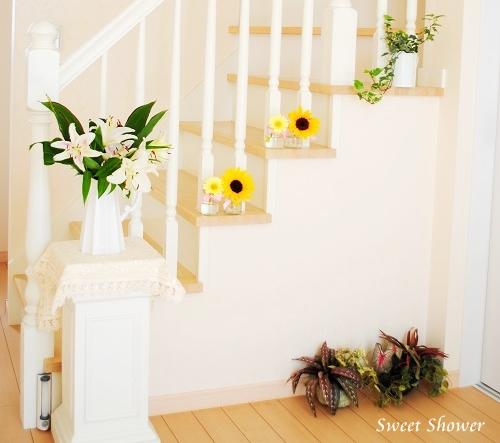 玄関階段斜め