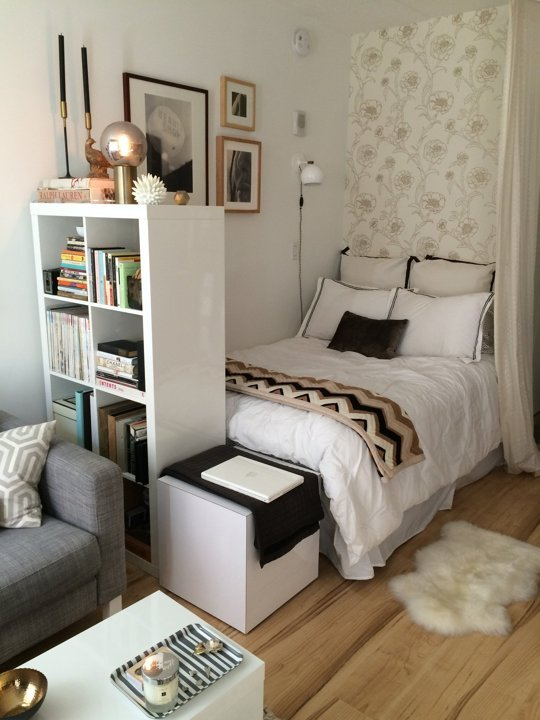 6 sweet shower 10 tips to make a small bedroom feel larger freshome com