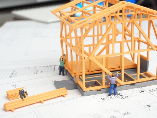 家を建てる模型