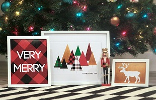 印刷可能なおしゃれなクリスマスの無料素材ダウンロード集のイメージ
